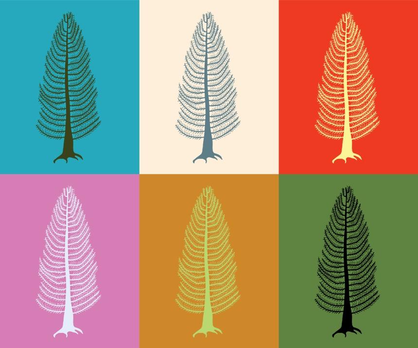 Cedar Illustration - Custom Colours, Modern Art