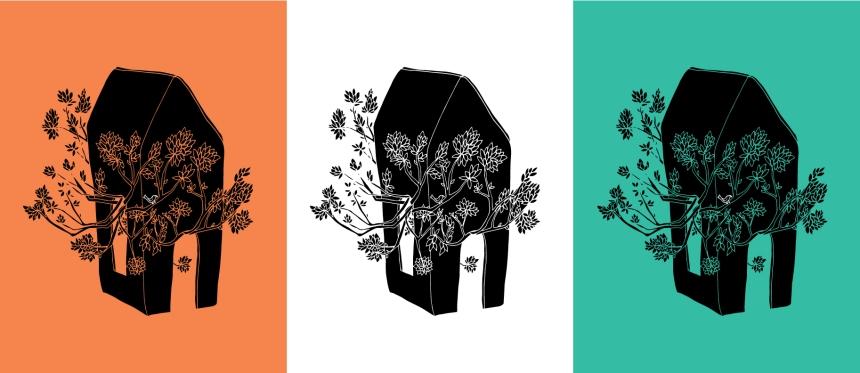 Brina Schenk Illustration Art Print - Customizable Art - Tree growing in House