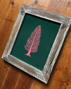 Signed and Framed Cedar Illustration Art Print - Framed and ready to Hang Artwork by artist Brina Schenk