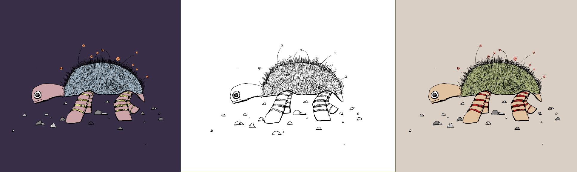 Customize Your Lazy Turtle Illustration - Art Print Animals