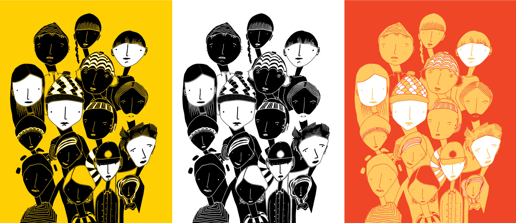 Colour Ideas for our People Illustration by Brina