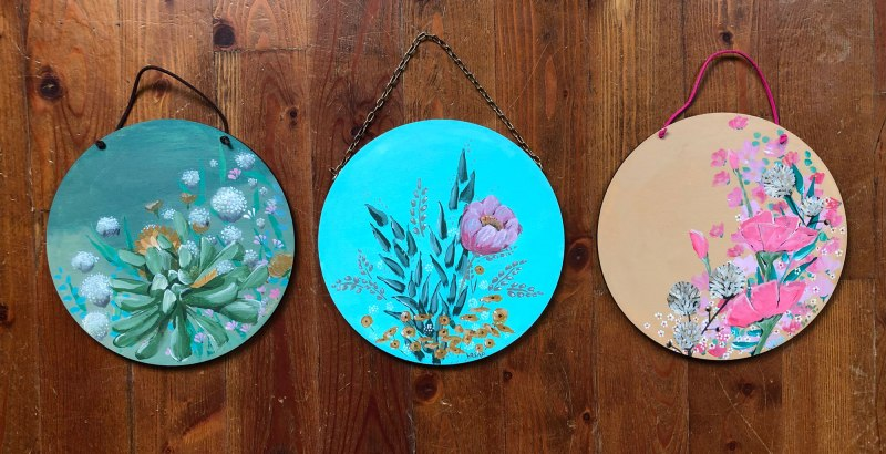 Original Floral Paintings by Brina Schenk - botanical inspired pieces full of colour and texture. Succulents, bouquet, wildflower art