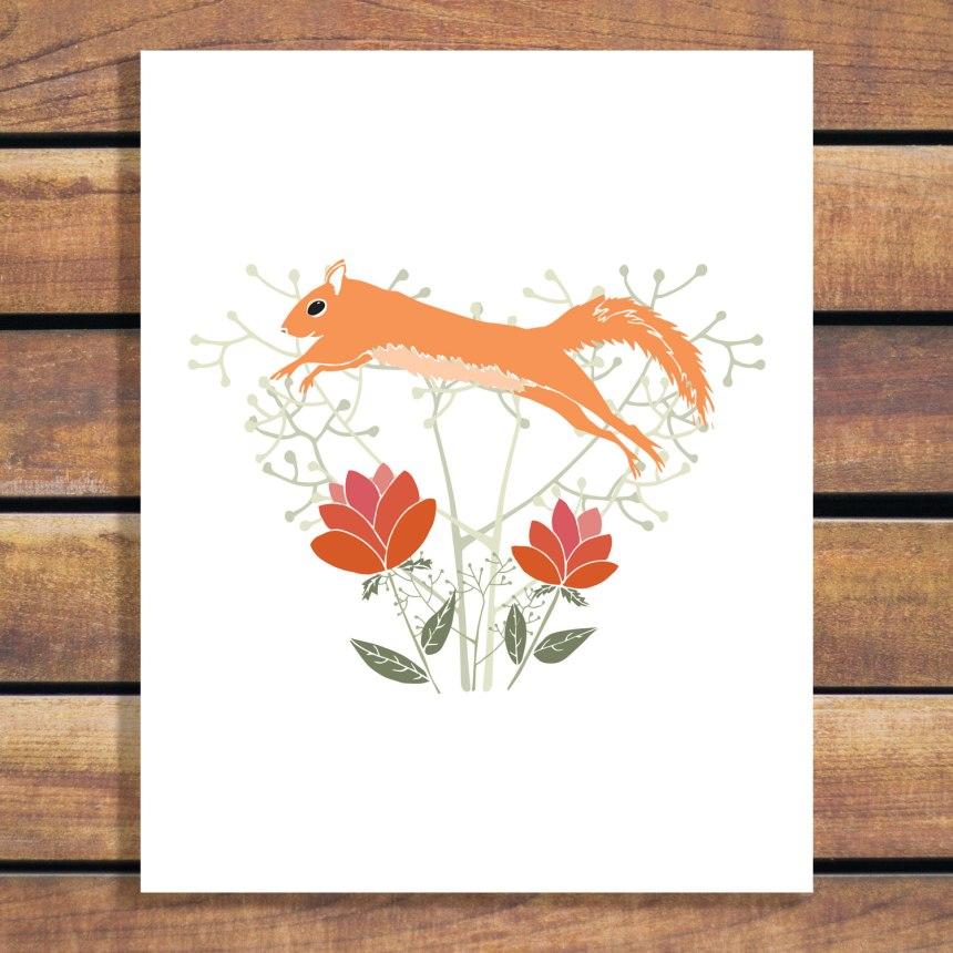 Digital Art - Jumping Squirrel by Brina Schenk