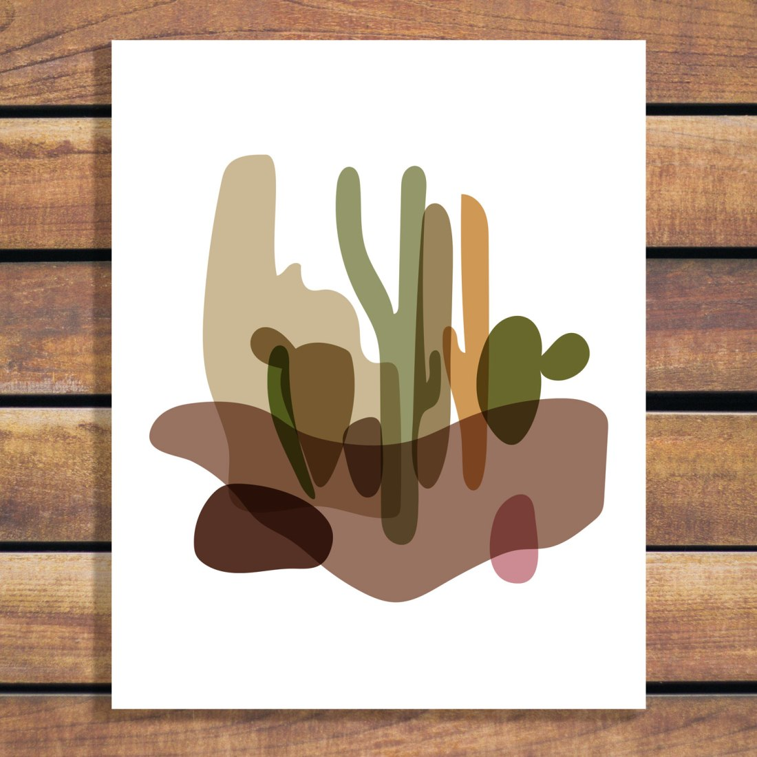 Abstract Desert landscape - Arizona Cactus Browns