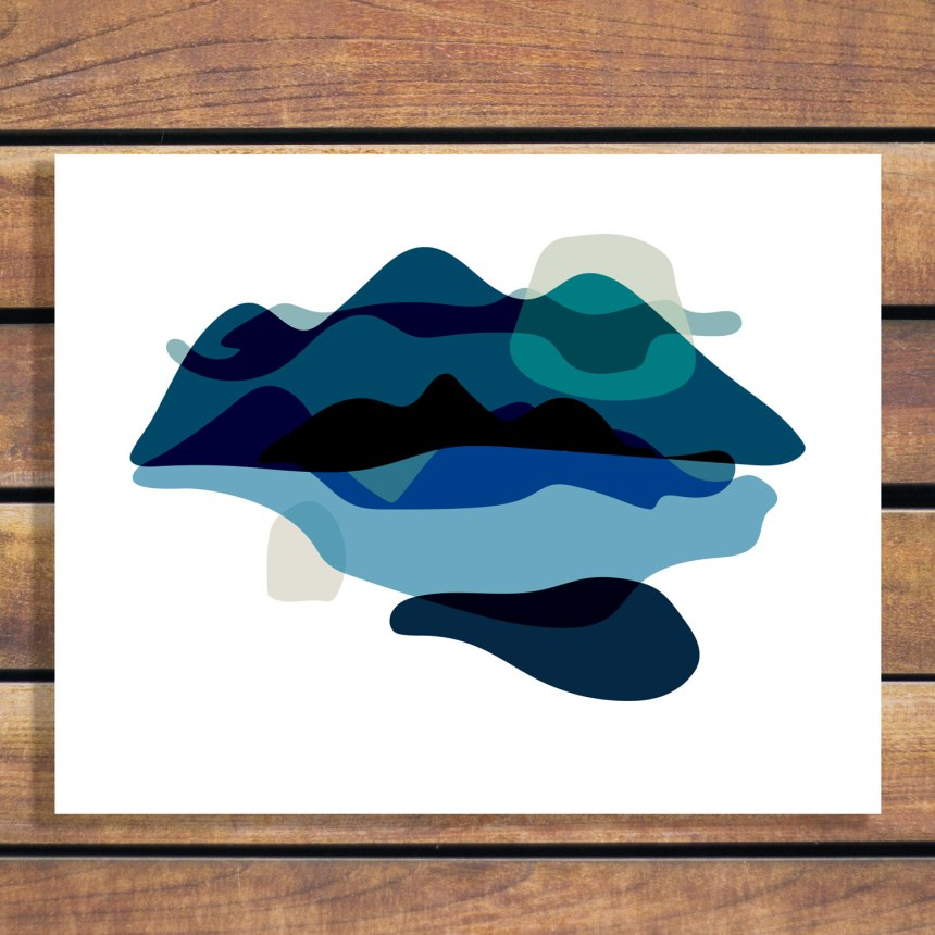 Brina Schenk's graphic abstract mountain art - wall art for baby or kid's room
