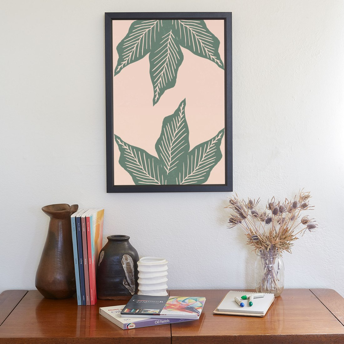 Brina Schenk - Surrounded by Plant Lovers large leaf graphic art print