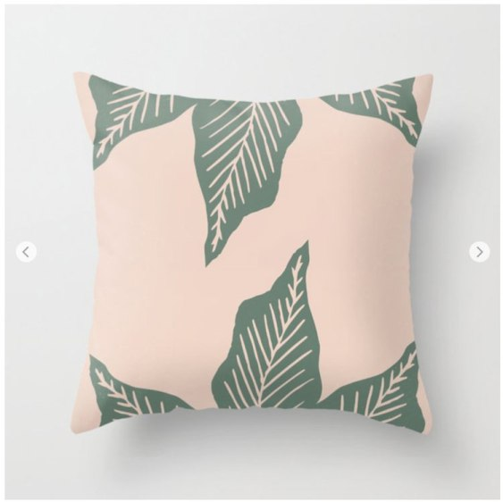 Brina Schenk's plant lovers surface pattern large leaf graphic on Society6