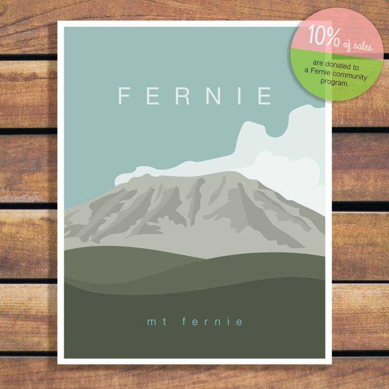 Mt Fernie Illustration Poster by Brina Schenk