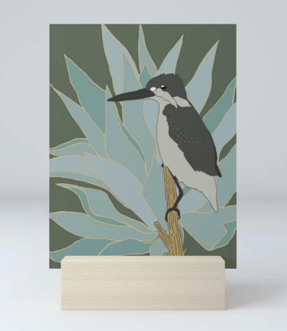 Bird and Botanical Flicker Art Print by Brina Schenk