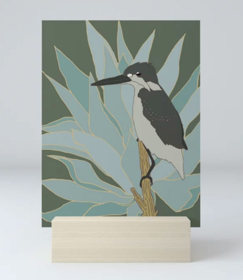Bird and Botanical Flicker Art Print by Brina Schenk