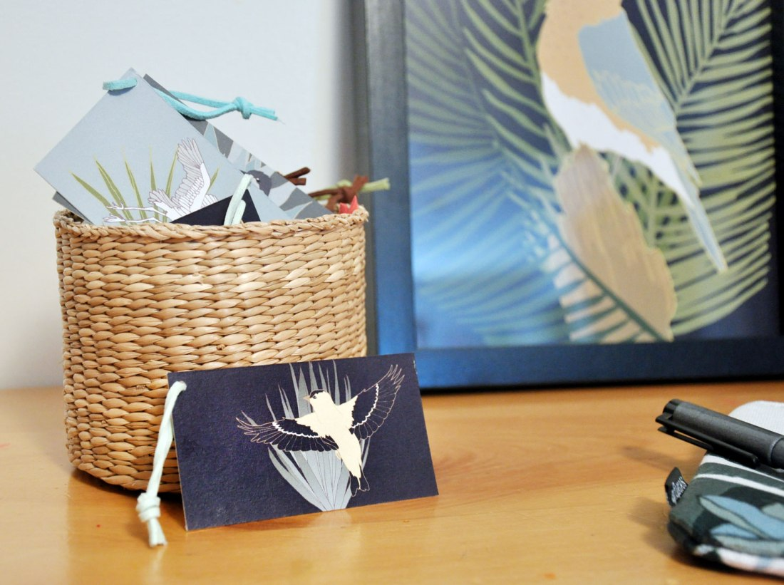 Birds & Botanical Gift Tags or Cards by Brina Schenk