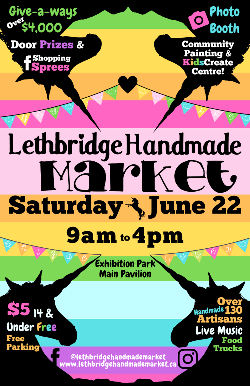 Lethbridge Handmade Market Unicorn Theme Artisan Fair 2019 with Brina Schenk