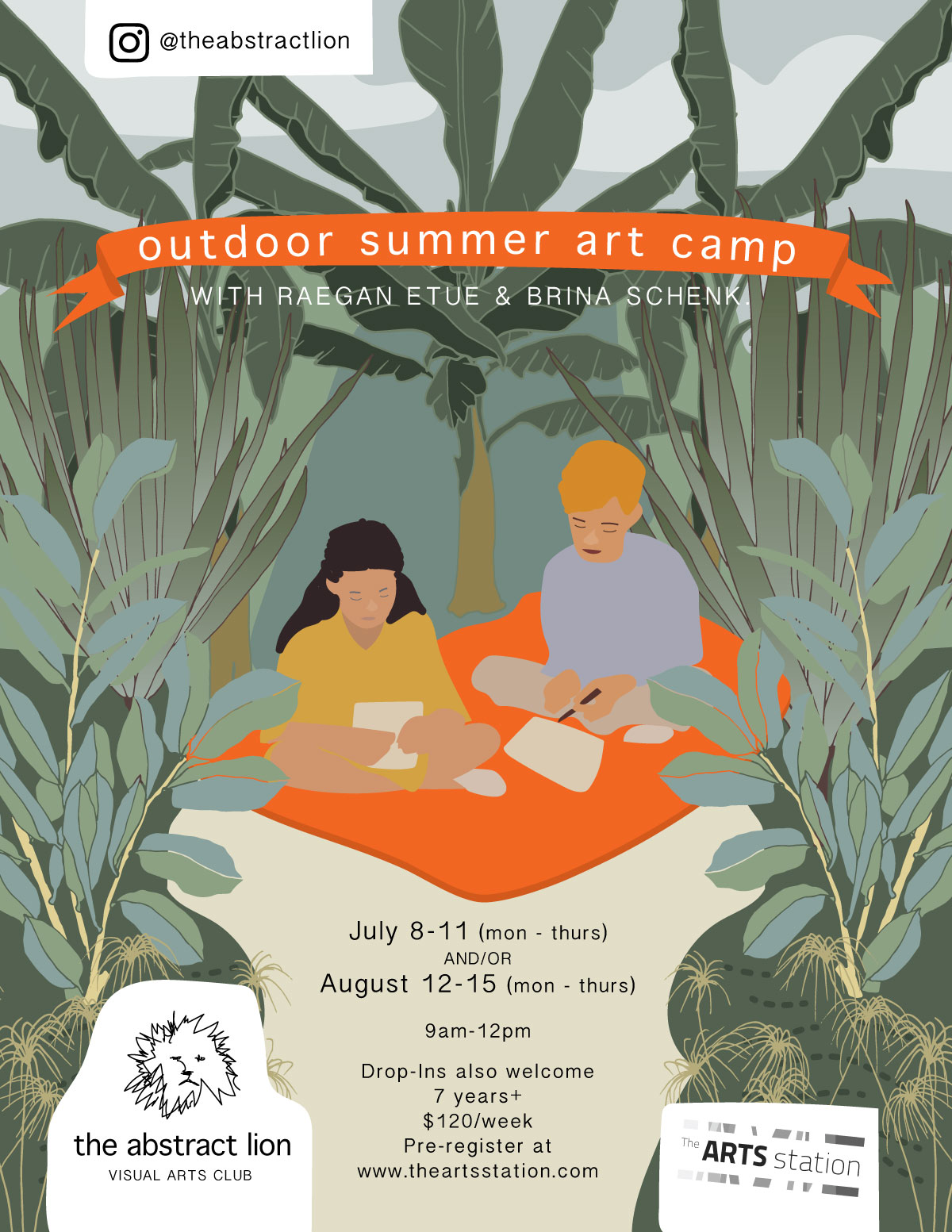 The Abstract Lion Art Club – Fernie Summer Outdoor Art Camp
