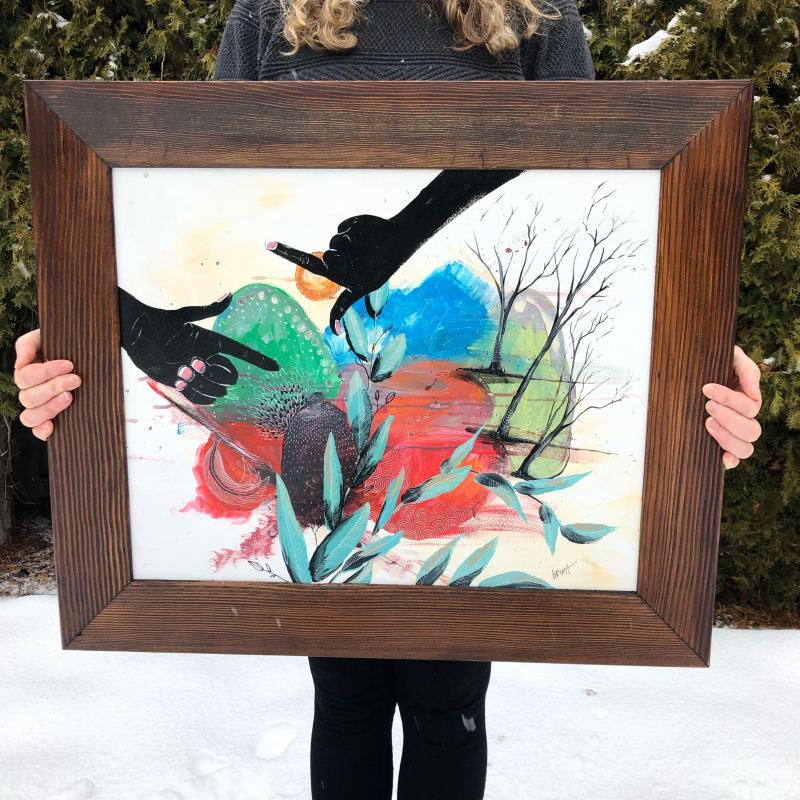 "Brina Schenk Painting ""Mental Picture"" acrylic on aluminum - painted for Wapiti Music Festival 2019"