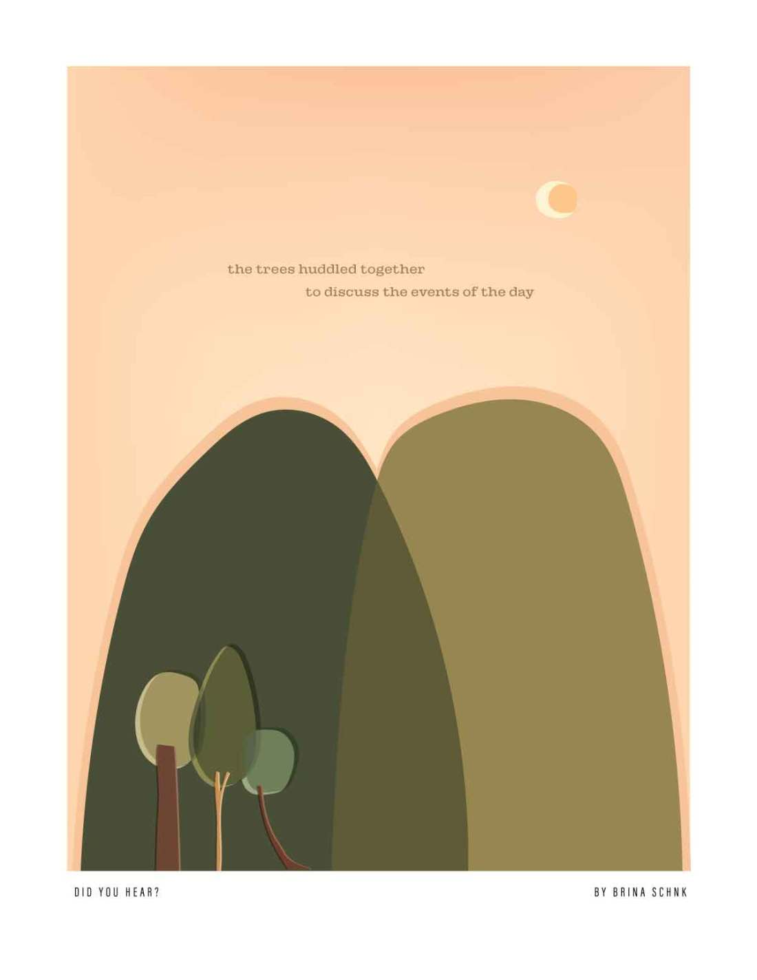 single page storytelling, illustrations by Brina Schenk