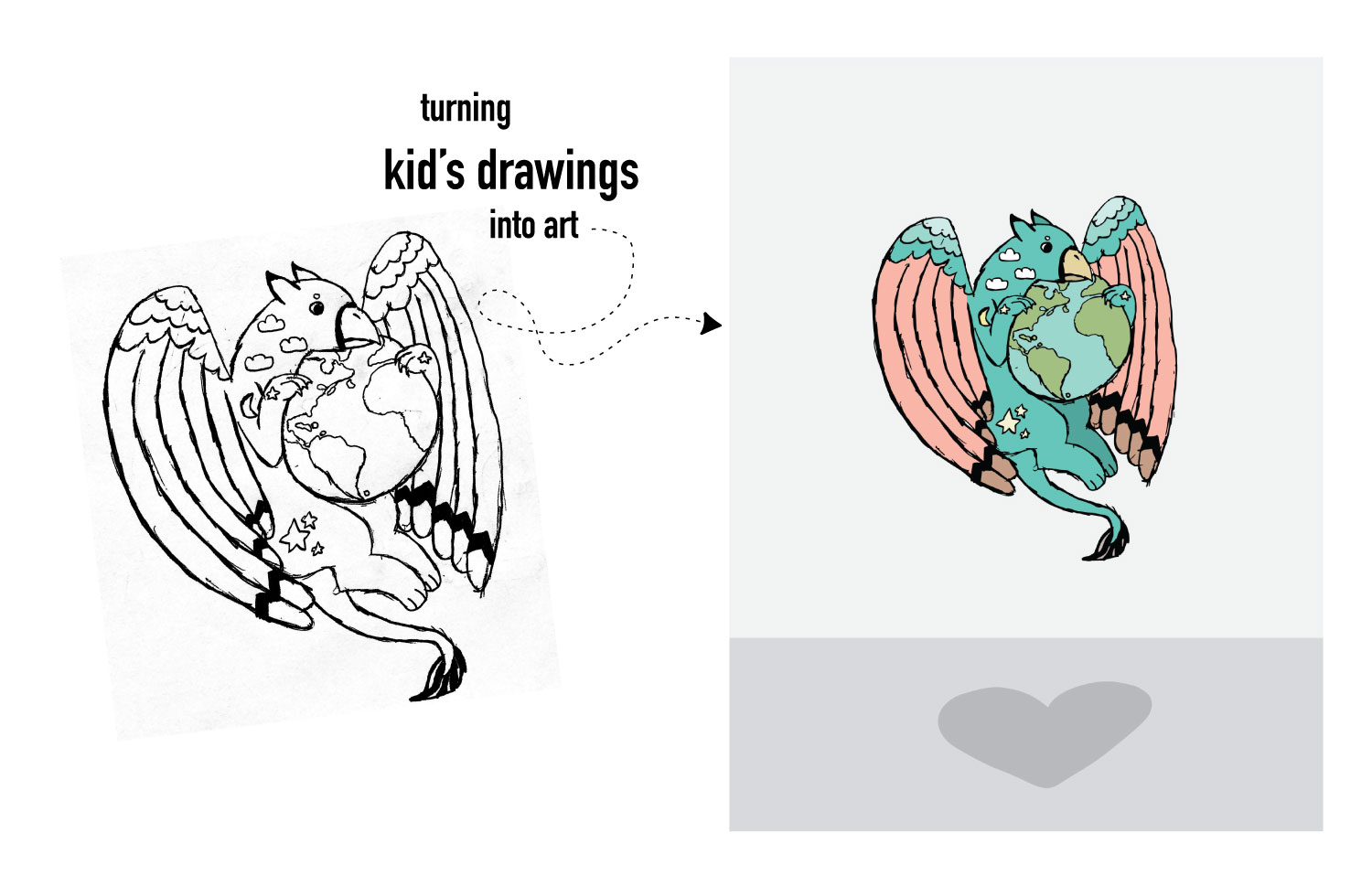 Turning Your Kid's Drawings Into Art